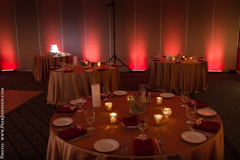 Uplighting at Cambria Pines Lodge